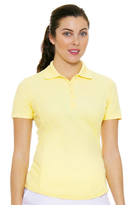 Greg Norman Women's Protek Short Sleeve Golf Polo in Yellow