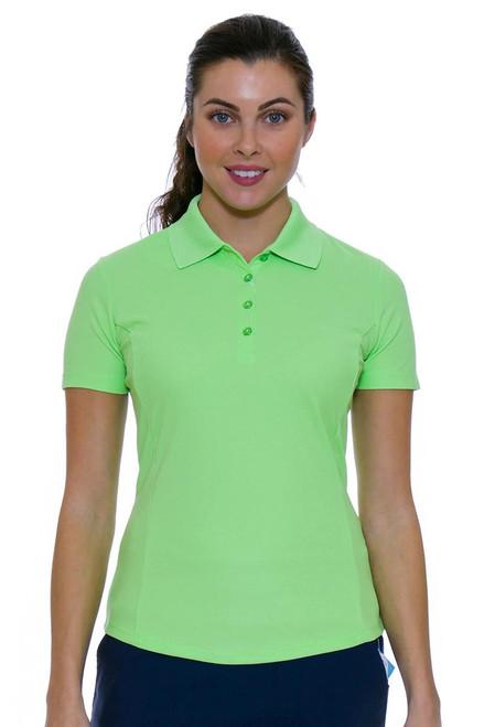 Greg Norman Women's Protek Short Sleeve Golf Polo in Green