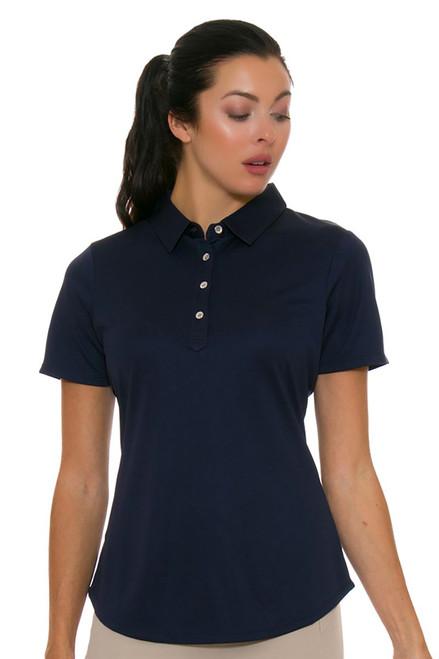 Cutter & Buck Women's Basics Liberty Navy Fiona Golf Short Sleeve Polo