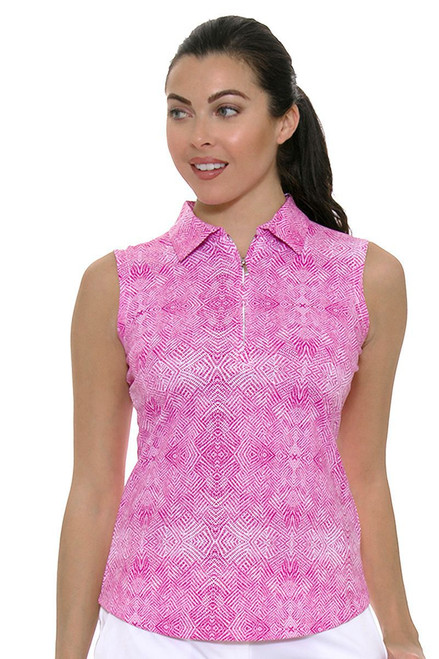 Cutter & Buck Women's Pearl Flora Tess Printed Golf Sleeveless Shirt