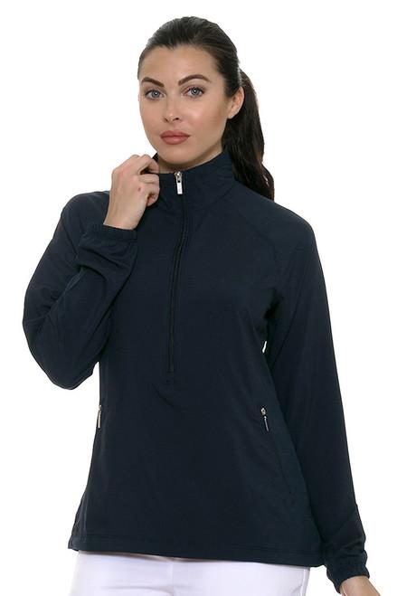 Cutter & Buck Women's Pearl Liberty Navy Jackie 3/4-Zip Jacket