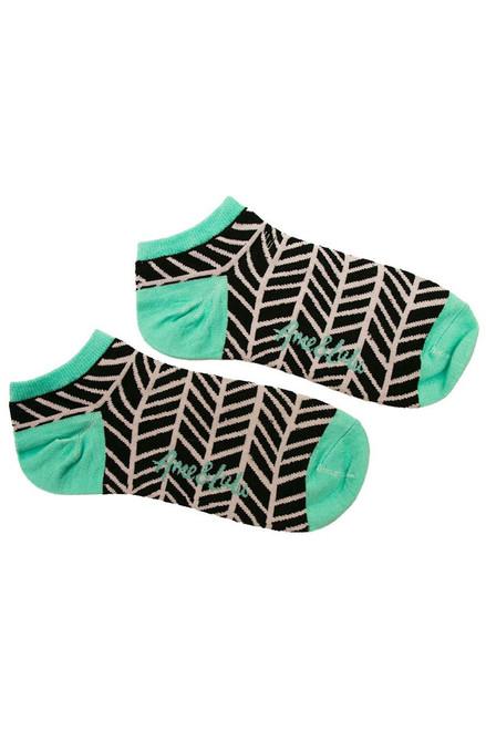 Ame & Lulu Women's Meet Your Match Black Shutters Socks AL-Meet Your Match Socks-Black Image 2