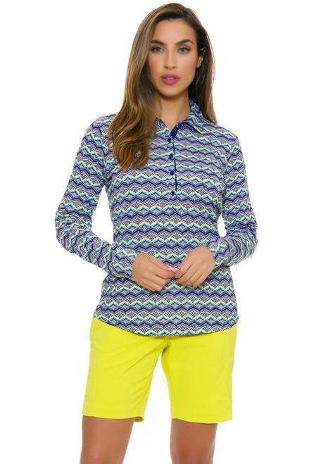 EP Pro NY Women's Basics Wasabi Stitch Crease Golf Shorts EPNY-NS8000-Wasabi Basics Image 4
