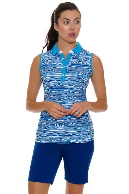 Annika Warrior Blue Sage Golf Shorts