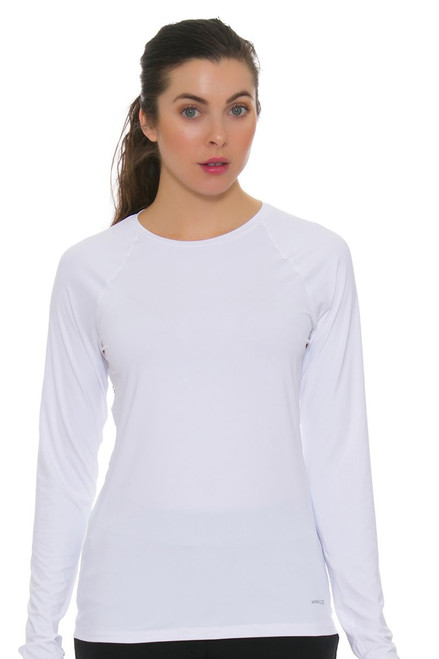 Annika Women's Prize White Solar Guard Golf Long Sleeve Shirt