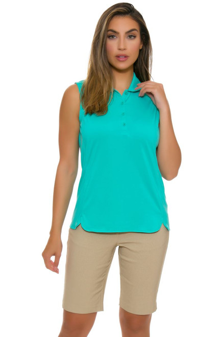 EP Pro NY Women's Basics Khaki Bi-Stretch Compression Golf Shorts