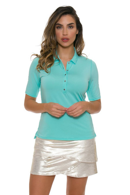 Lucky In Love Women's Metallic Slither Champagne Golf Skort LIL-GB14-211 Image 1