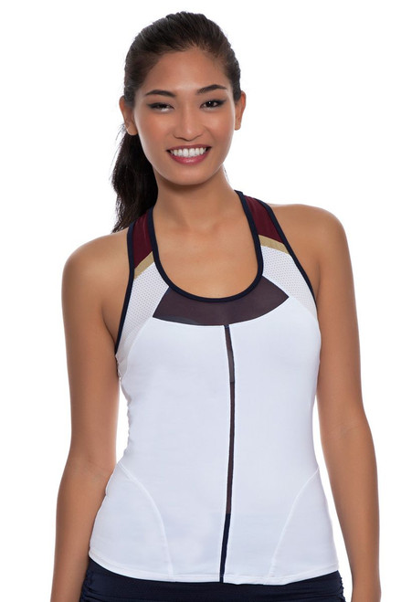 Lucky In Love Women's Rockin' Moroccan Racerback Tennis Tank