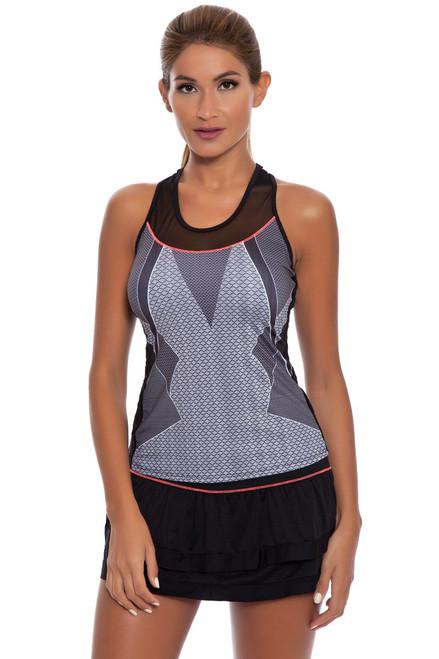 Border Tier Tennis Skirt LIL-CB129-023427