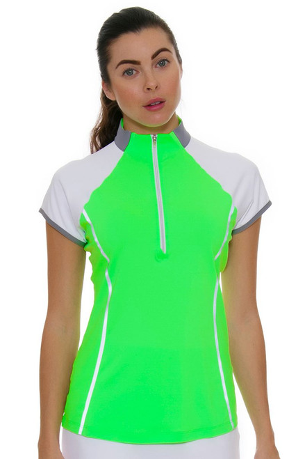 Annika Women's Eclipse Clutch Mock Golf Cap Sleeve Shirt AK-LAK00012 Image 1
