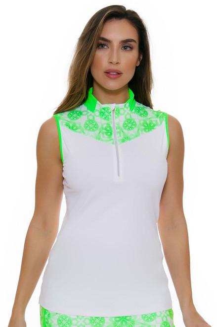 Annika Women's Eclipse Mock Golf Sleeveless Shirt AK-LAK00003 Image 1