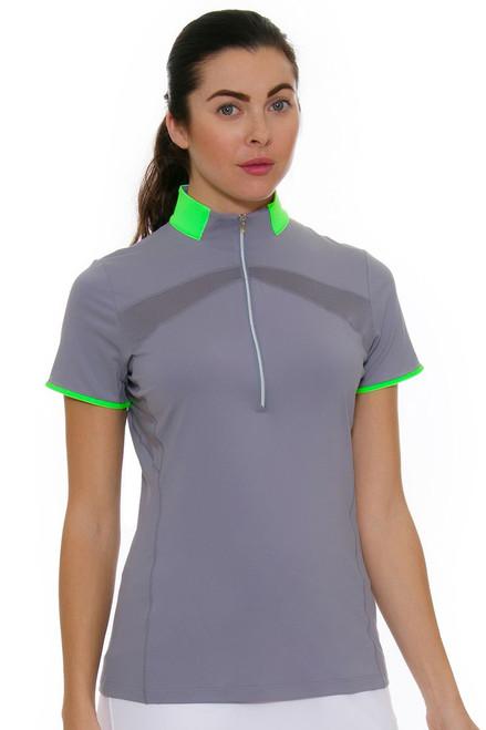 Annika Women's Eclipse Range Mock Golf Short Sleeve Shirt AK-LAK00018 Image 1