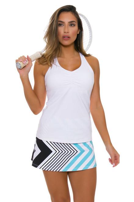 Allie Burke Women's Fine Lines Print Light Blue Tennis Skirt AB-BSKT01-Lt. Blue Image 1