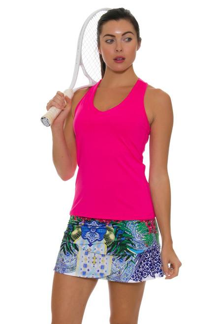 "Lucky In Love Women's Santorini Print Scallop Tennis Skirt - 12"" and 14"""