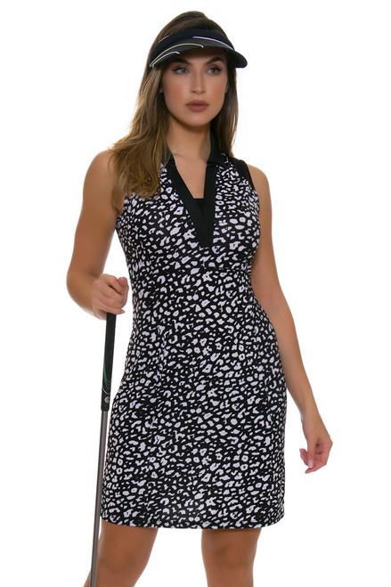 EP Pro NY Women's Culture Clash Sleeveless Leopard Print Golf Dress