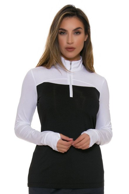 EP Pro NY Women's Culture Clash Color Block Golf Long Sleeve Shirt
