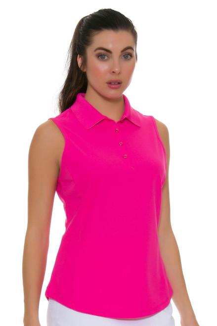 Greg Norman Women's Protek Micro Pique Pink Sleeveless Golf Polo Shirt