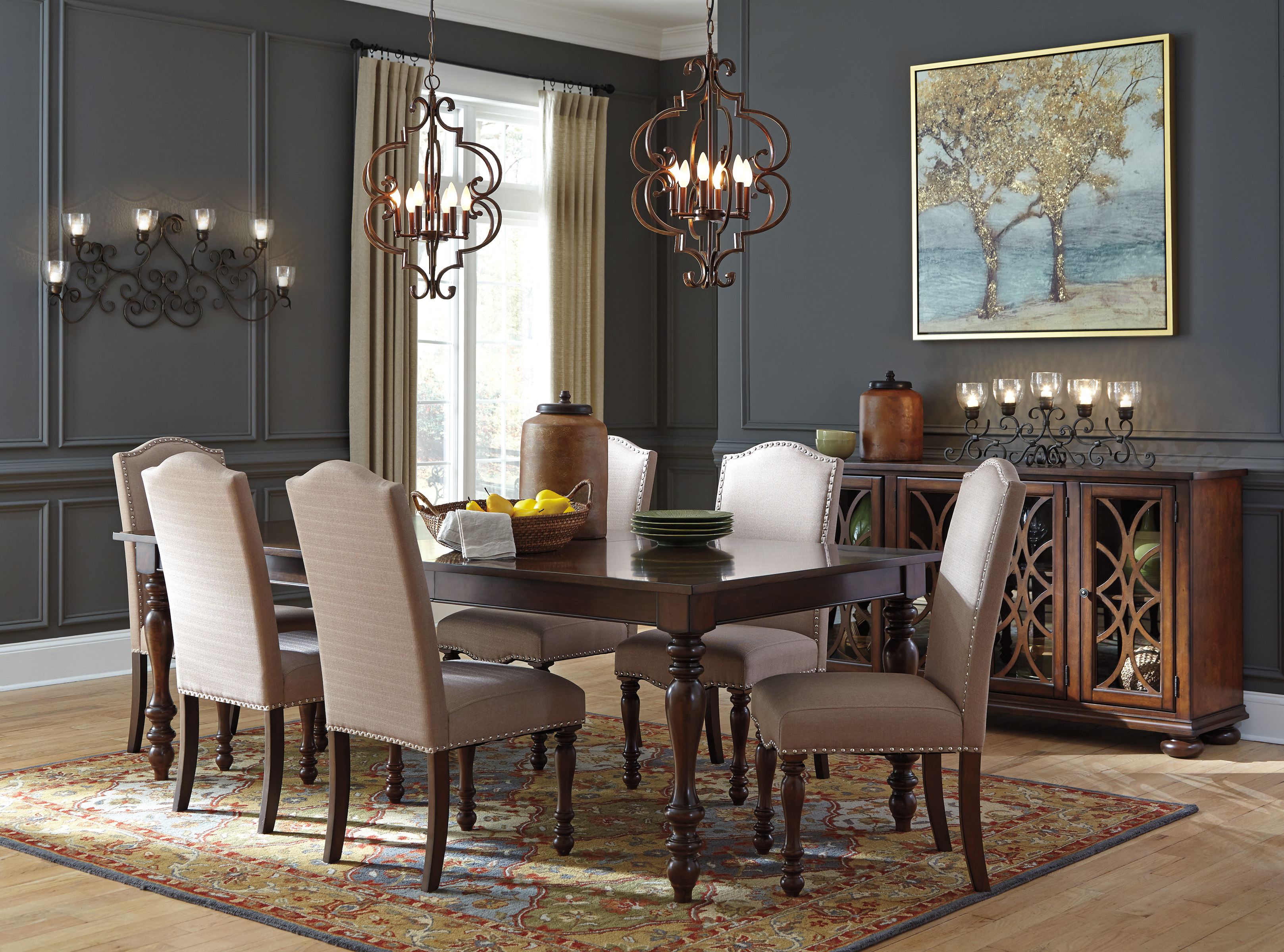 Signature Design By Ashley Baxenburg D506 Dining Table Set