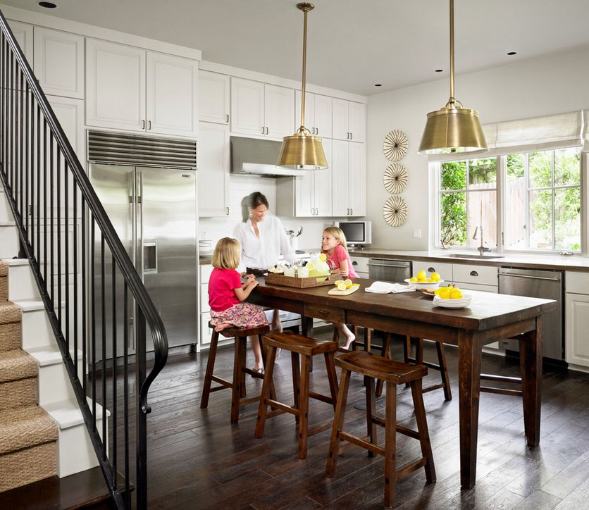 Kitchen Update With Brookhaven Island Desk: Gather 'Round The Kitchen Table: Kitchen Update