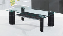 Gabriela Rectangular Glass Chromed Cocktail Table