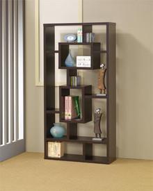 Asymmetrical Cube Bookcase Console