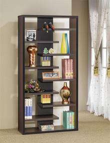 Cappuccino Contemporary Bookcase