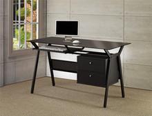 Glass Computer Desk w/ Two Storage Drawers