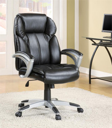 Black Leather-like Executive Office Chair
