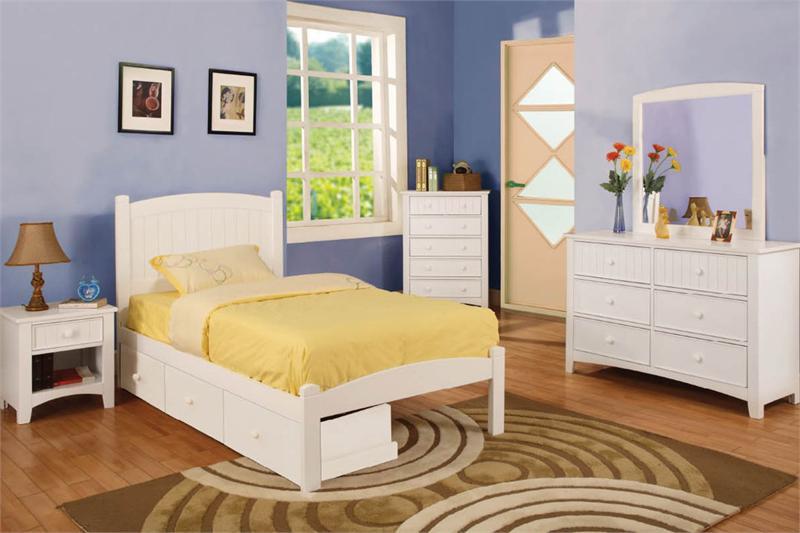 Caren white platform panel twin bed childrens beds for sale for White twin beds for sale