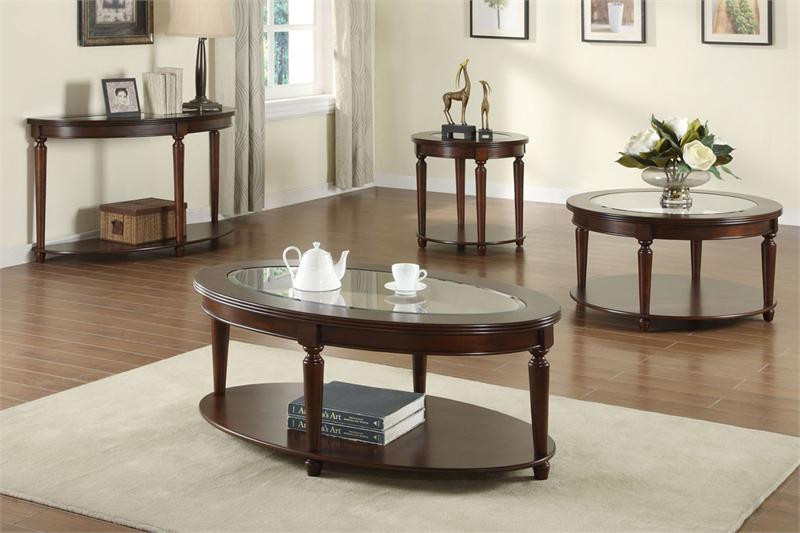 Granvia Oval Glass Coffee Table