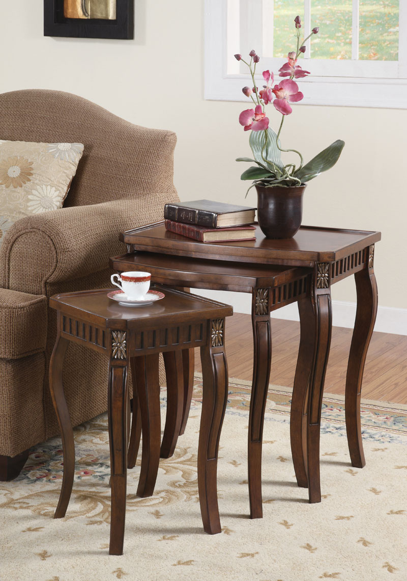 Gloria II Cherry Wood Nesting Tables