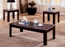 Cappuccino Coffee End Tables Set | Elegant 3 PC Coffee Table Set