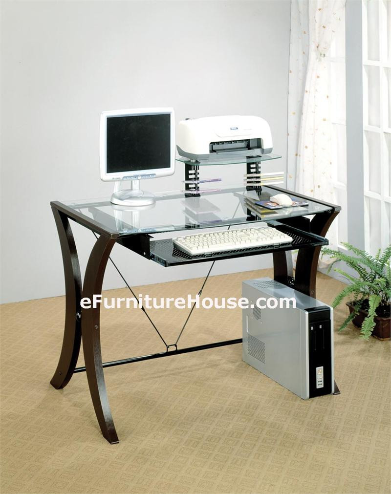 Modern Computer Desk Home Office Computer Desks Glass