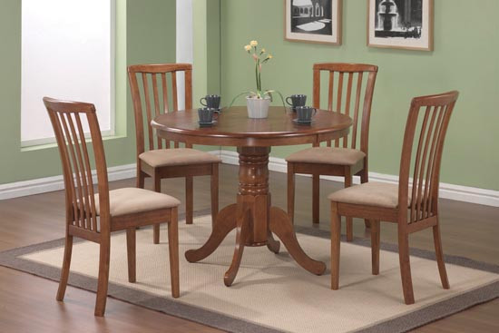 Merveilleux Round Oak Pedestal Dining Table