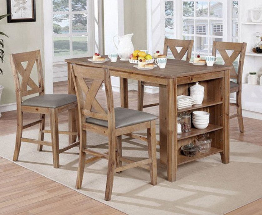 Lana 5 Piece Counter Height Dining Set | High Kitchen Table With 4 Chairs  ...
