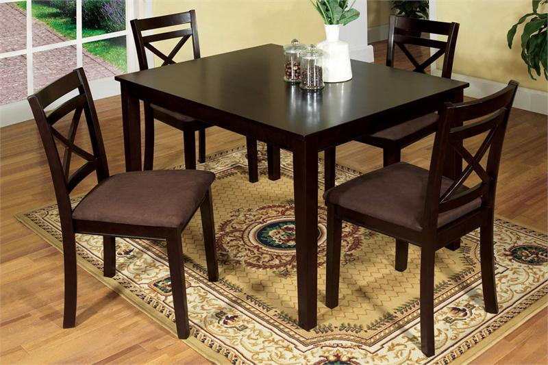 Weston I Espresso Dining Table and Chairs & 48