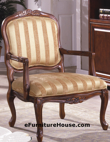 Urnaby Antique Oak Accent Chair W/ Carvings