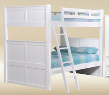 Dillon White Full Bunk Bed with Trundle and Storage Drawers or Trundle