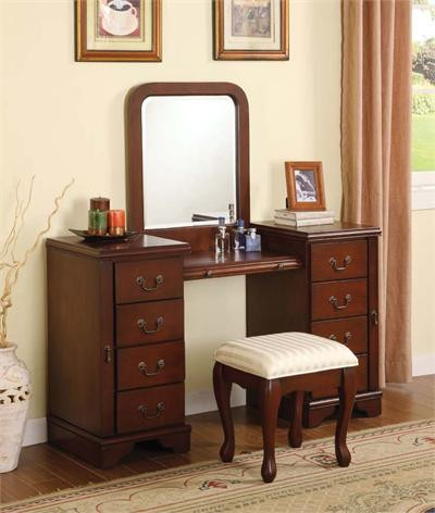 Ali cherry makeup dressing table set dressing table sets for Vanity table set