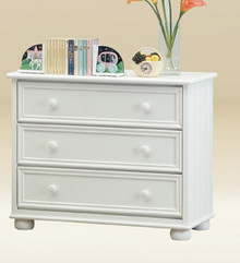 3-Drawer Chest In White Finish