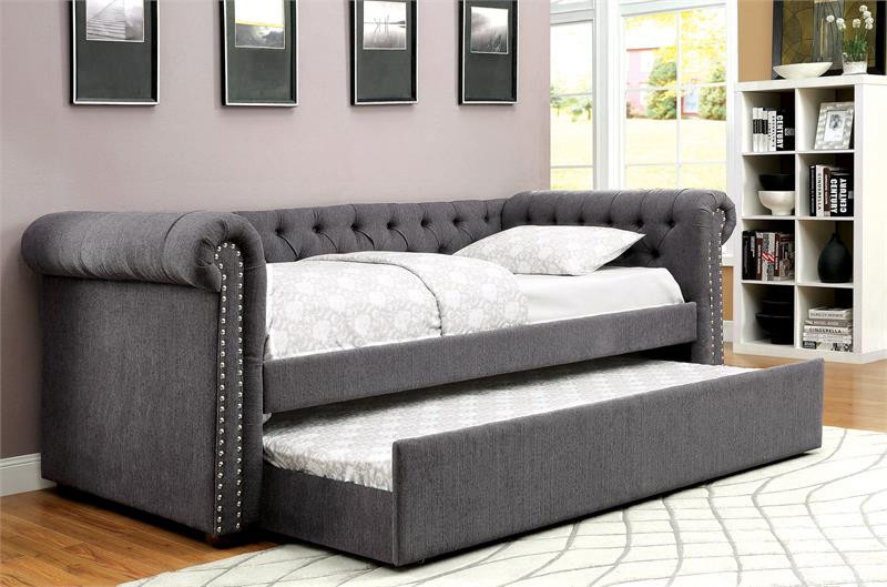 Furniture Of America Cm1027 Fabric Daybed With Trundle