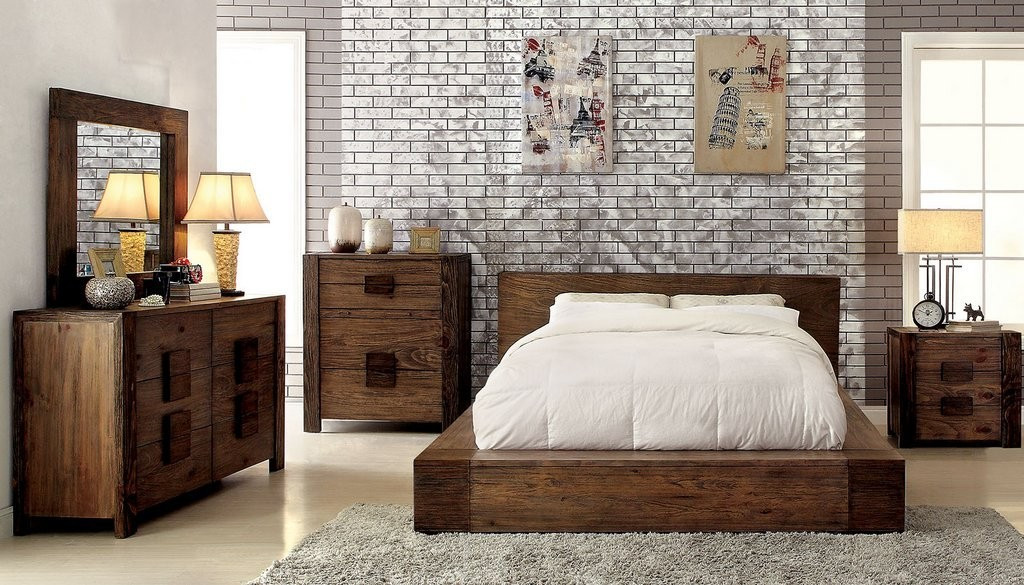 Janeiro Modern Low Profile Bed Furniture Of America Cm7628