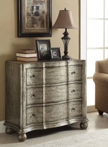 Edlyn Antique Silver Accent Chest with Drawers