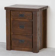 Barnwood 3-Drawer Nightstand