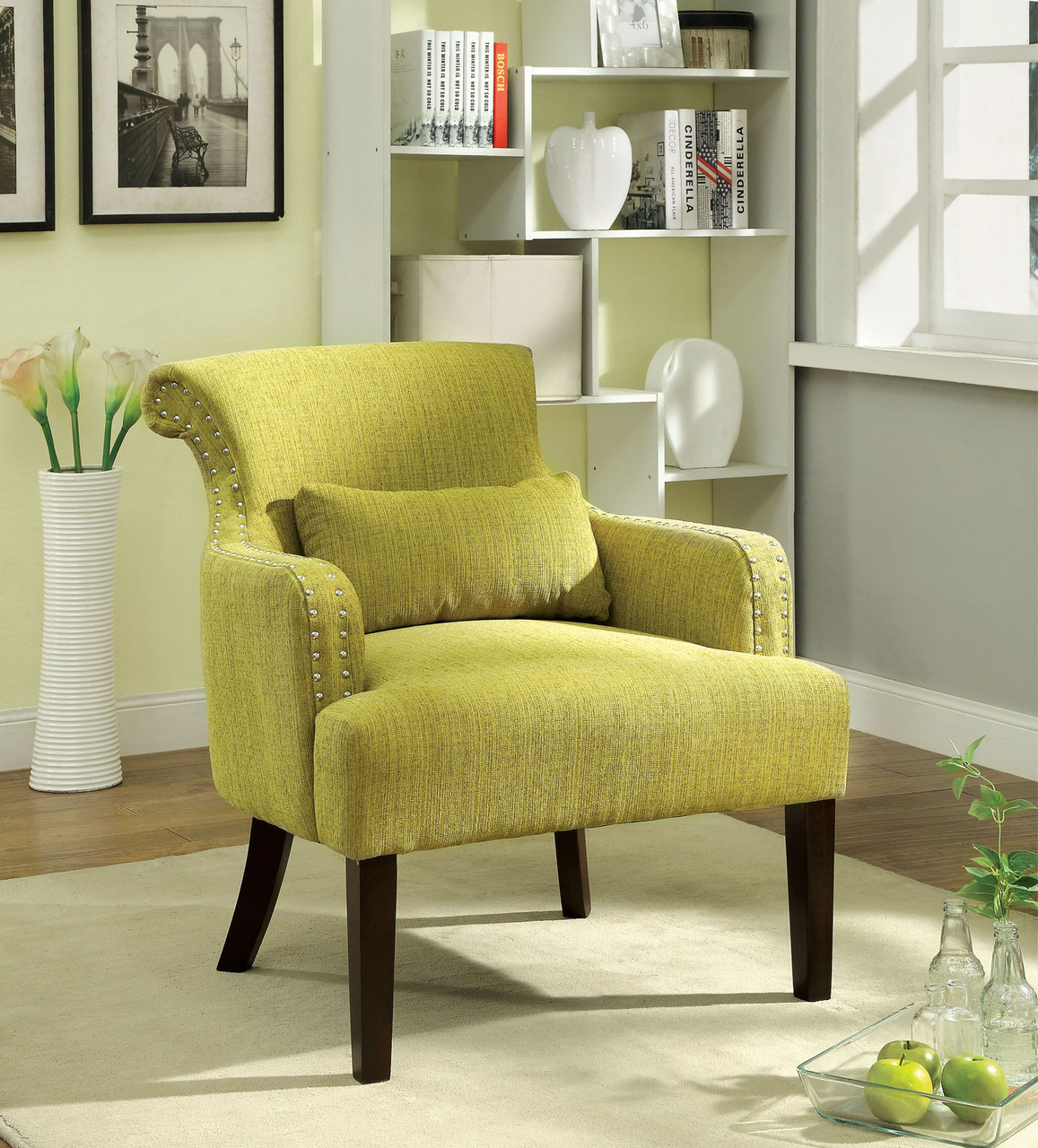 big living room chairs agalva gray fabric accent chair 13464