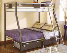 Cletis Silver & Dark Gray Twin Full Bunk Bed