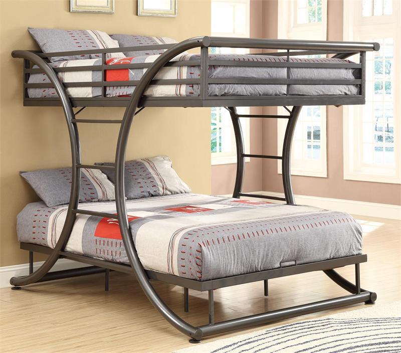 Grant Gunmetal Full Bunk Bed