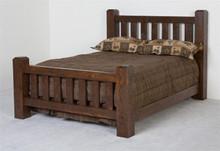 Barnwood Lumberjack Queen Bed