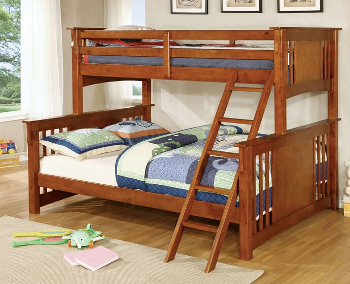 Spring Creek Quot Extra Long Quot Twin Over Queen Bunk Bed