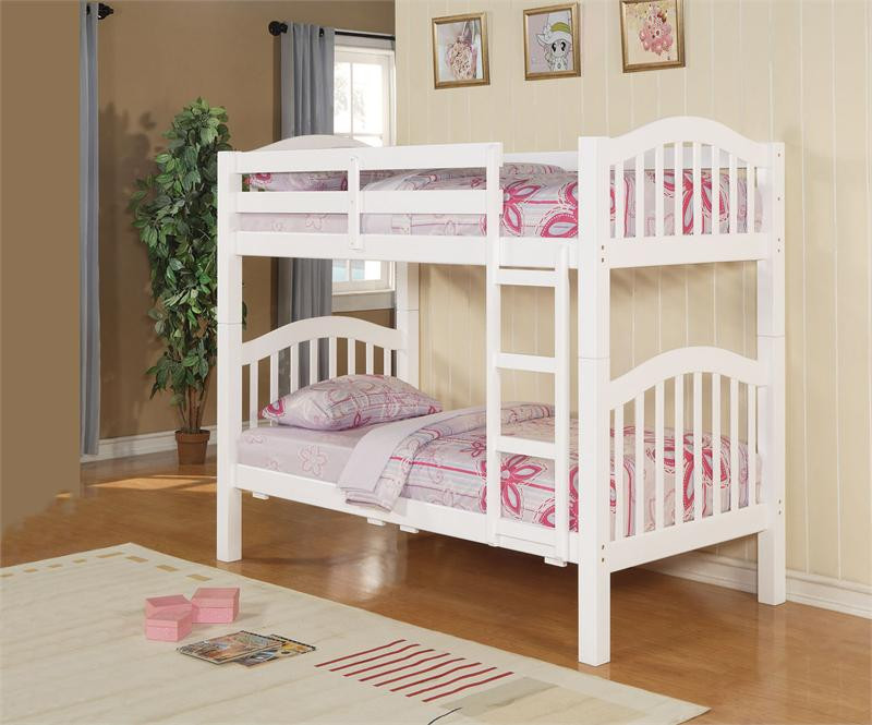 concord white wood twin bunk bed bunk beds for sale. Black Bedroom Furniture Sets. Home Design Ideas